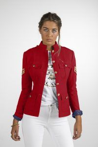 CHAQUETA MILITAR MUJER RED SCARS