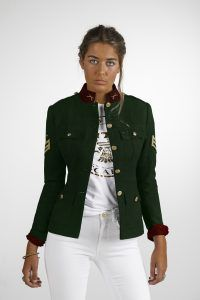 CHAQUETA MILITAR MUJER SPECIAL GREEN SCARS