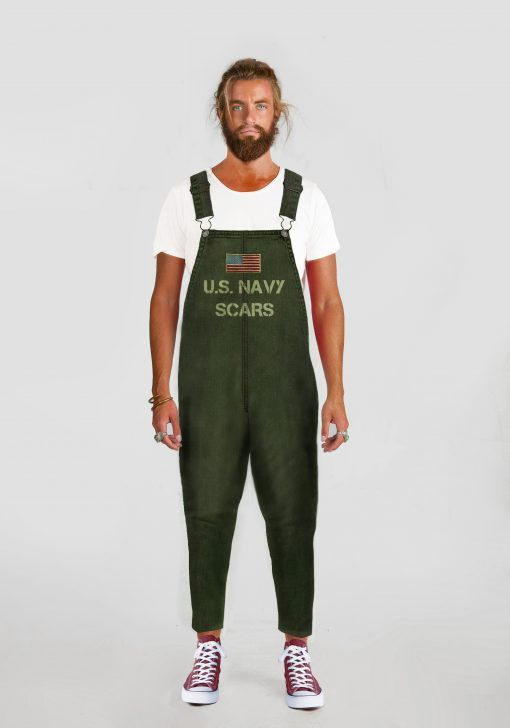 PETO MILITAR HOMBRE ARMY GREEN SCARS